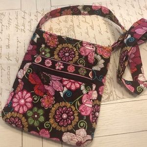Vera Bradley Crossbody Bag Mod Floral Pink